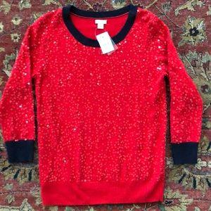 J.CREW Sequin Sweater NWT